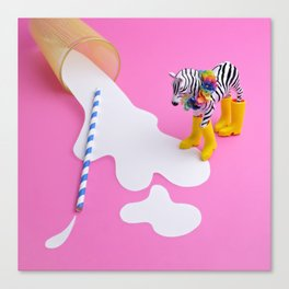 No use crying over spilled milk Canvas Print