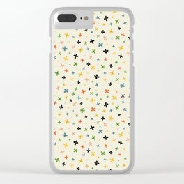 teeny colorful flowers Clear iPhone Case