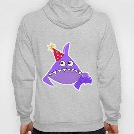 Sad party shark, Violet shark, Baby shark, Funny shark, Shark logo, Big eyes Shark vector, Shark svg Hoody