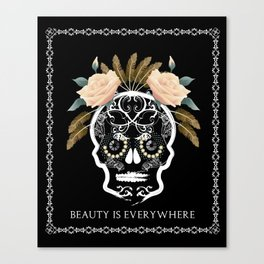 Beauty is everywhere Canvas Print
