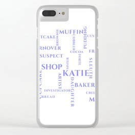 Amish Sweet Shop Mysteries Word Puzzle Clear iPhone Case
