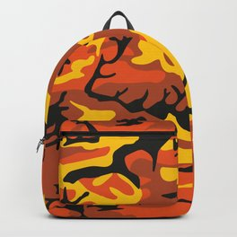 Camouflage orange, yellow, black Backpack