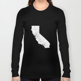 California White Map Long Sleeve T-shirt