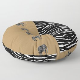 Zebra Elephant Safari Floor Pillow