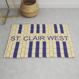 ST. CLAIR WEST | Subway Station Rug