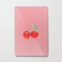 Yummi Cherry Metal Print