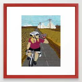 Riding Yellowjacket Framed Art Print