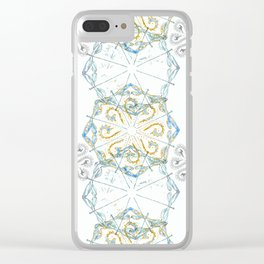 Moroccan Spice Dragonfly Clear iPhone Case