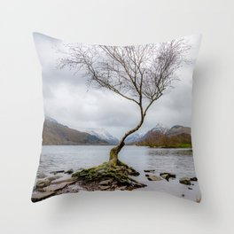 Winter in Snowdonia, Wales Throw Pillow