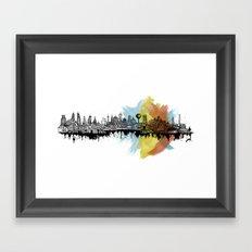 Long City Framed Art Print