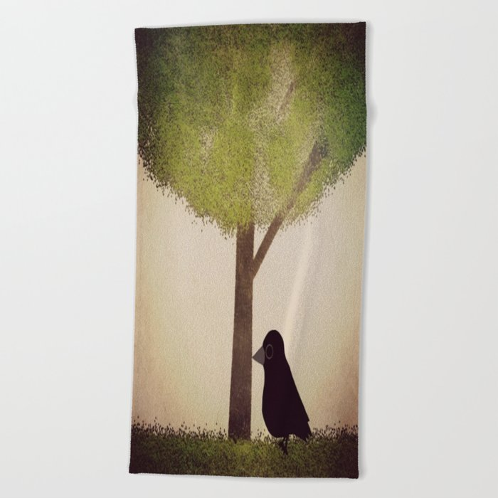 Crow-196 Beach Towel