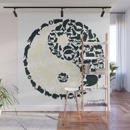 Yin-Yang Cats - FELT Wall Mural