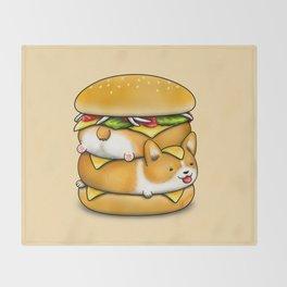 Double Corgi Pounder Throw Blanket