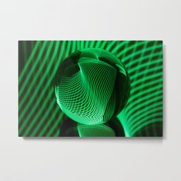Green in the glass ball Metal Print