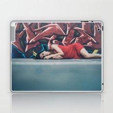 woman in red Laptop & iPad Skin