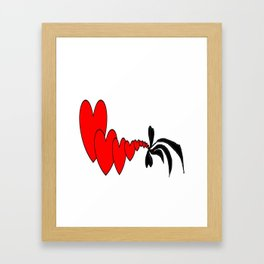 hard love Framed Art Print