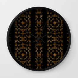 Dark Arabic Stripes Pattern Wall Clock