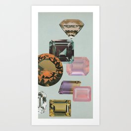 Gem Collection Art Print
