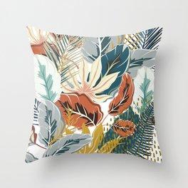 Tropical Wild Jungle Throw Pillow