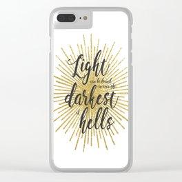 ACOWAR   Darkest of Hells Clear iPhone Case