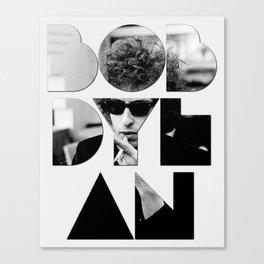 Bob Dylan Font Sunglasses Canvas Print