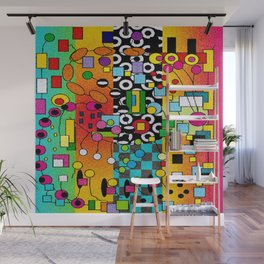 Funky Watercolor Abstract Wall Mural