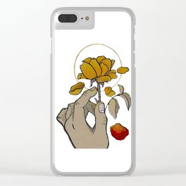 If You Need Anyone (w/ red petal) Clear iPhone Case