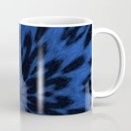 Spotted Leopard Blue Kaleidoscope Coffee Mug