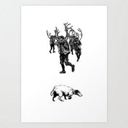 Dance & Dogs Art Print