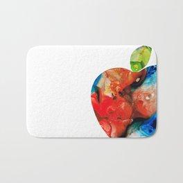 An Apple A Day - Colorful Fruit Art By Sharon Cummings Bath Mat