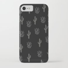 Cactus Pattern Black iPhone 7 Slim Case