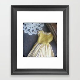 Yellow Dress TTV Framed Art Print