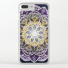 Glowing Mandala Clear iPhone Case