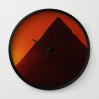 egypt Wall Clocks featuring Egypt by Steve P Outram