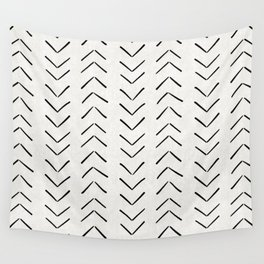 Mud Cloth Big Arrows in Cream Wall Tapestry