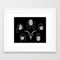coven Framed Art Prints featuring The Coven by Flash or Die!