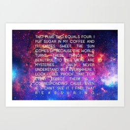 CAUSE AND EFFECT Art Print
