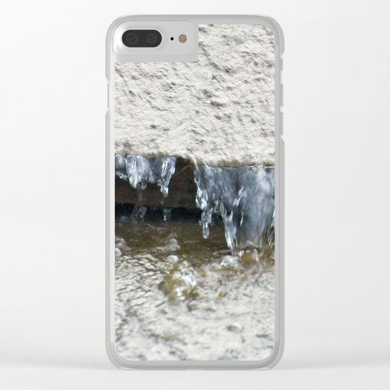 Water (Chipping Sparrow) Clear iPhone Case