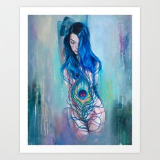 Peafowl Flow Art Print