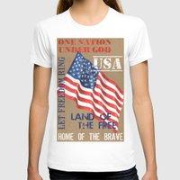 patriotic T-shirts featuring Patriotic Text by Debbie DeWitt