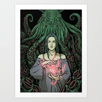 lovecraft Art Prints featuring Lovecraft - 01 by ChiaraDi Francia