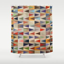 Abstract Composition 391 Shower Curtain