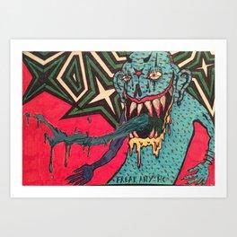 DEMON GOD 'FREAK ANY HO' Art Print