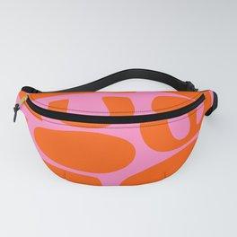 Orange Shapes on Pink Fanny Pack