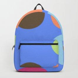 Retro Polka Dot - Denim Blue Backpack
