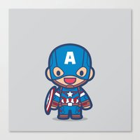 captain silva Canvas Prints featuring Captain by Papyroo