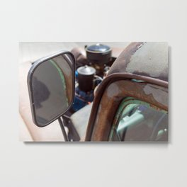 Vintage American Rusty Car Metal Print