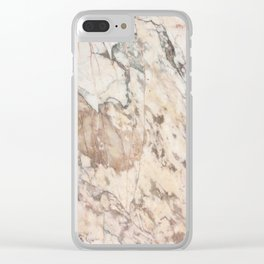 Polished Rose Marble Slab Clear iPhone Case