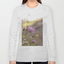 Purple Flowers Vintage on the Beach Long Sleeve T-shirt