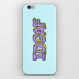IDGAF Violet Donuts iPhone Skin